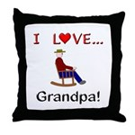 I Love Grandpa Throw Pillow