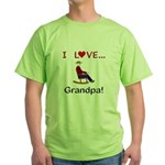 I Love Grandpa Green T-Shirt