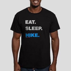 Eat Sleep Hike Men's Fitted T-Shirt (dark)
