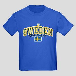 Sweden Hockey/Sverige Ishockey Kids Dark T-Shirt