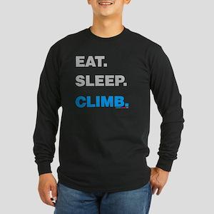 Eat Sleep Climb Long Sleeve Dark T-Shirt