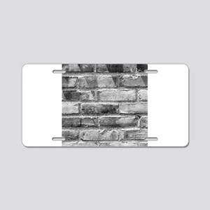 Brick Wall 11 Aluminum License Plate