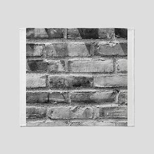 Brick Wall 11 Throw Blanket