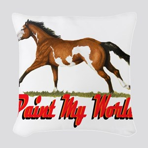 Paint My world 3 Woven Throw Pillow