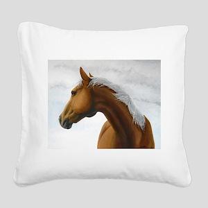 Palomino Stallion Square Canvas Pillow