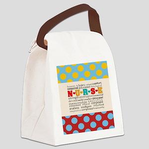 Nurse Positive Pillow CP Canvas Lunch Bag
