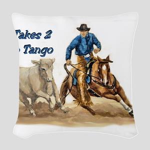 takes2totango Woven Throw Pillow