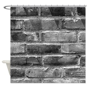 White Brick Wall Shower Curtains