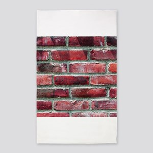 Brick Wall 2 3'x5' Area Rug