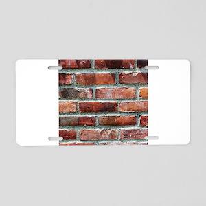 Brick Wall 1 Aluminum License Plate