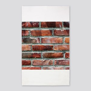 Brick Wall 1 3'x5' Area Rug