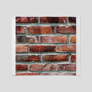 Brick Wall 1 Throw Blanket