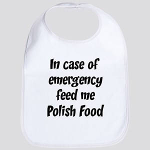 Feed me Polish Food Bib