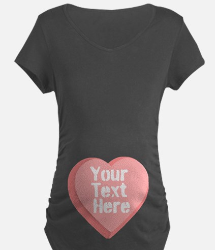 Candy Heart Maternity T-Shirt