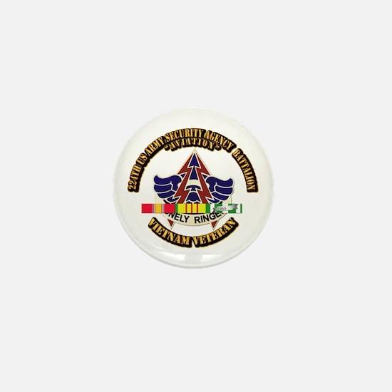 DUI - 224th USA Security Agency Bn w SVC Ribbon Mi