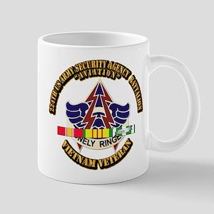 DUI - 224th USA Security Agency Bn w SVC Ribbon Mu