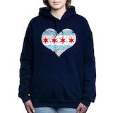 Chicago flag Hooded Sweatshirt