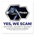 PRISM Parody Square Car Magnet 3&Quot; X 3&Quot;