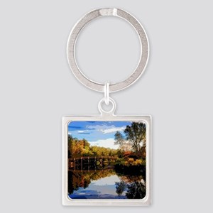 Old North Bridge Square Keychain