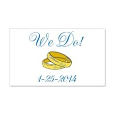 We Do Personalized Dates Wall Decal
