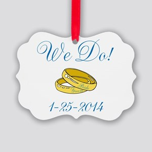 We Do Personalized Dates Ornament
