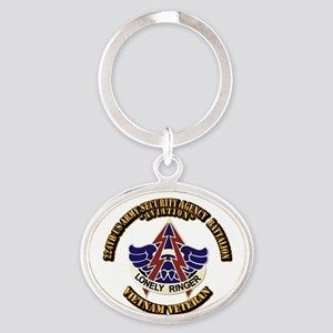 DUI - 224th USA Security Agency Bn Oval Keychain