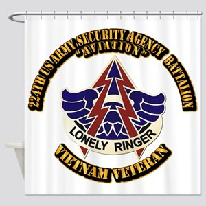 DUI - 224th USA Security Agency Bn Shower Curtain