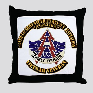 DUI - 224th USA Security Agency Bn Throw Pillow