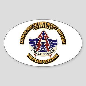 DUI - 224th USA Security Agency Bn Sticker (Oval)