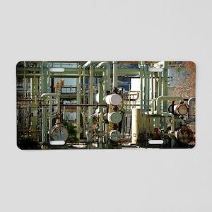 Oil Refinery Aluminum License Plate