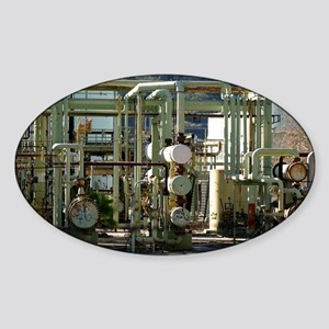 Oil Refinery Sticker (Oval)