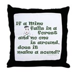 If a Mime Falls in the Forest Throw Pillow