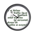If a Mime Falls in the Forest Wall Clock