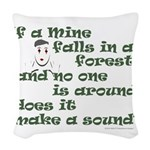 If a Mime Falls in the Forest Woven Throw Pillow