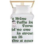 If a Mime Falls in the Forest Twin Duvet