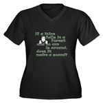 If a Mime Falls in the Forest Plus Size T-Shirt