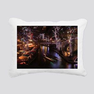 New Lights San Antonio R Rectangular Canvas Pillow