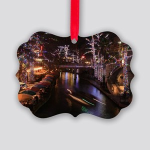 New Lights San Antonio Riverwalk  Picture Ornament