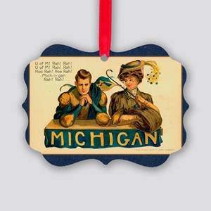 Vintage Michigan Picture Ornament