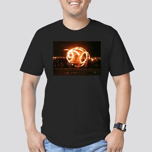Fire Poi Dancer Black T-Shirt
