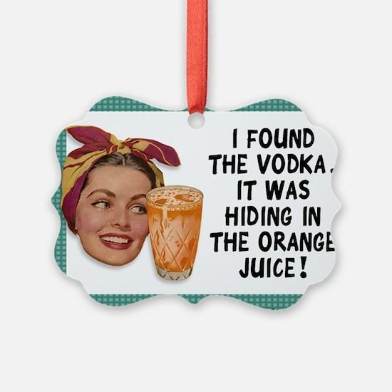 Vintage Vodka Ornament