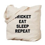 Cricket Eat Sleep Repeat Tote Bag