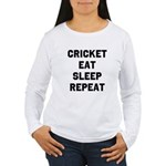 Cricket Eat Sleep Repeat Long Sleeve T-Shirt