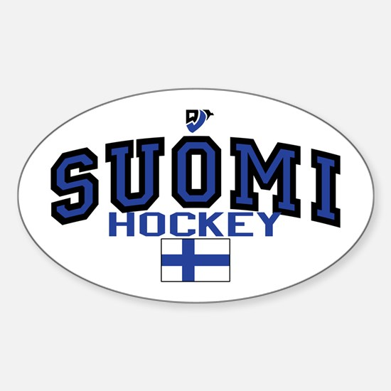 Finland(Suomi) Hockey Sticker (Oval)