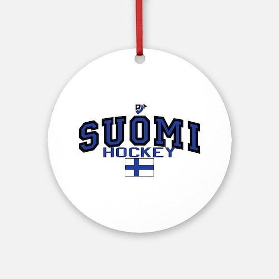 Finland(Suomi) Hockey Ornament (Round)
