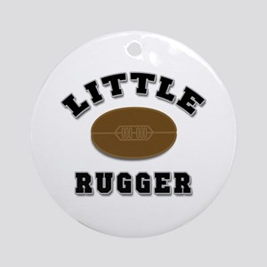 Little Rugger Ornament (Round)