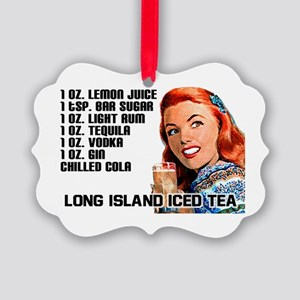 Vintage Long Island Iced Tea Picture Ornament
