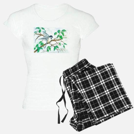 Chickadee on a Branch Pajamas