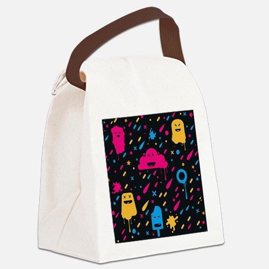 Cute Color Stuff Canvas Lunch Bag