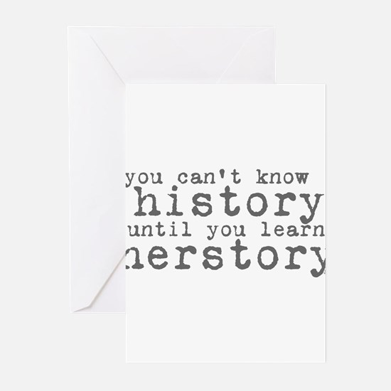 History vs. Herstory Greeting Cards